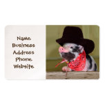 Puppy Cowboy Baby Piglet Farm Animals Babies Business Card