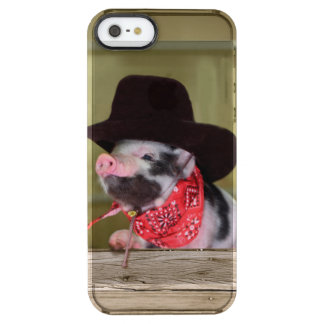 Puppy Cowboy Baby Piglet Farm Animals Babies Clear iPhone SE/5/5s Case