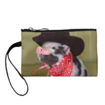 Puppy Cowboy Baby Piglet Farm Animals Babies Coin Wallet