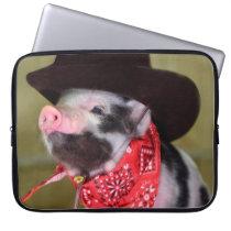 Puppy Cowboy Baby Piglet Farm Animals Babies Computer Sleeve