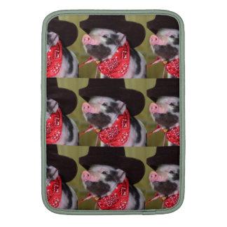 puppy Cowboy Baby Piglet Farm Animals Babies MacBook Sleeves