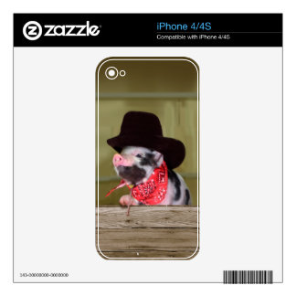 Puppy Cowboy Baby Piglet Farm Animals Babies iPhone 4 Decals