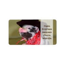 Puppy Cowboy Baby Piglet Farm Animals Babies Label
