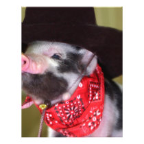 puppy Cowboy Baby Piglet Farm Animals Babies Letterhead