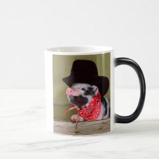 Puppy Cowboy Baby Piglet Farm Animals Babies Magic Mug