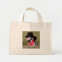 Puppy Cowboy Baby Piglet Farm Animals Babies Mini Tote Bag