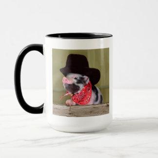 Puppy Cowboy Baby Piglet Farm Animals Babies Mug