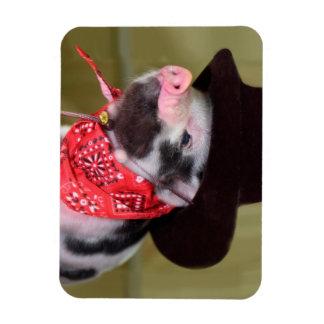 Puppy Cowboy Baby Piglet Farm Animals Babies Rectangular Photo Magnet