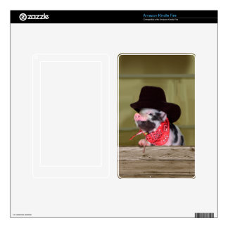 Puppy Cowboy Baby Piglet Farm Animals Babies Skin For Kindle Fire