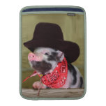 Puppy Cowboy Baby Piglet Farm Animals Babies Sleeve For MacBook Air