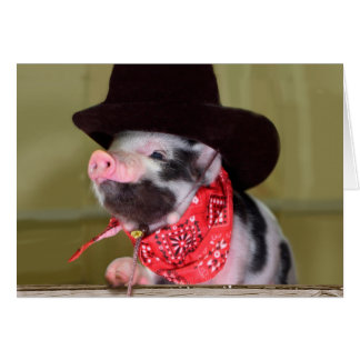 Puppy Cowboy Baby Piglet Farm Animals Babies Stationery Note Card