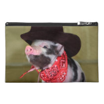 Puppy Cowboy Baby Piglet Farm Animals Babies Travel Accessory Bag