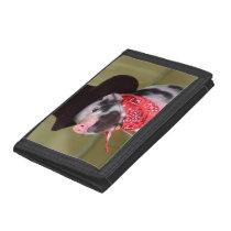 Puppy Cowboy Baby Piglet Farm Animals Babies Tri-fold Wallet