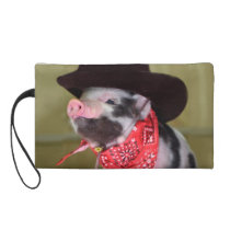 Puppy Cowboy Baby Piglet Farm Animals Babies Wristlet Purse