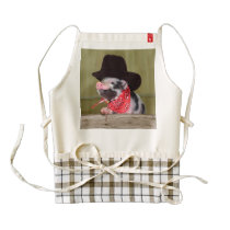 Puppy Cowboy Baby Piglet Farm Animals Babies Zazzle HEART Apron