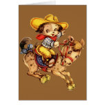 Puppy Cowboy on His Horse Card