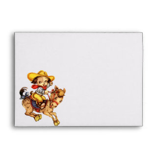Puppy Cowboy on His Horse Envelope