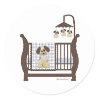 Puppy Dog Baby Bed Sticker