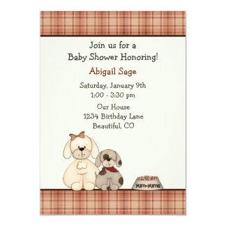 Puppy Dog Baby Shower Invitation for Boys