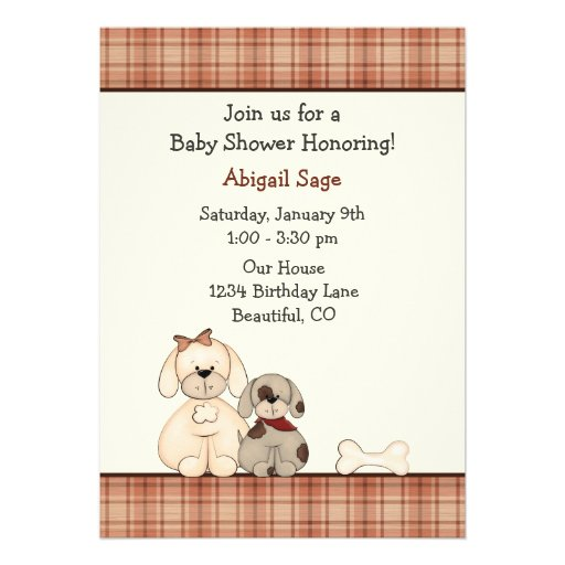 Personalized puppies invitations custominvitations4u puppy dog baby shower invitation for boys filmwisefo Image collections