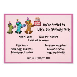 Puppy Dog Birthday Invitaiton Card