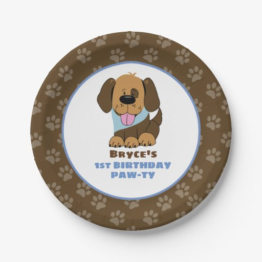 Puppy Dog Birthday Party Paper Plates