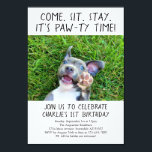 "Puppy Dog Birthday Party Photo Invitation<br><div class=""desc"">Whoop up you favorite furry friend&#39;s birthday party right with an invitation that showcases all the fluffy cuteness!  See the Puppy Birthday Collection in my store for coordinating items for your party.</div>"