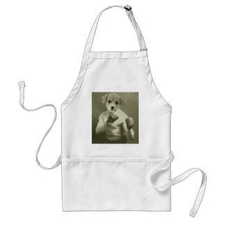 Puppy dog Boxer Adult Apron