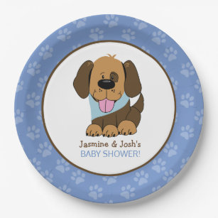 Puppy Dog Boy Baby Shower Paper Plates  sc 1 st  Zazzle & Baby Boy Puppy Plates | Zazzle