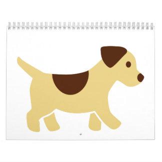 Puppy dog calendar