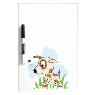 Puppy Dog Chasing a Fly Dry-Erase Board