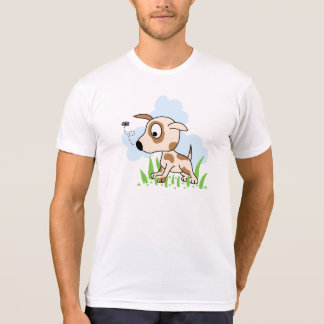 Puppy Dog Chasing a Fly Tee Shirt