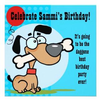 Puppy Dog Customized Birthday Invites