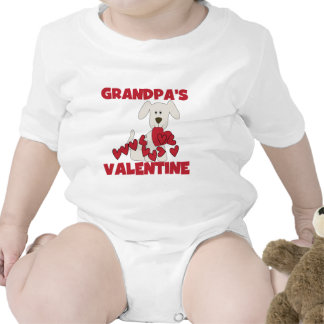 Puppy Dog Grandpa's Valentine Baby Bodysuits