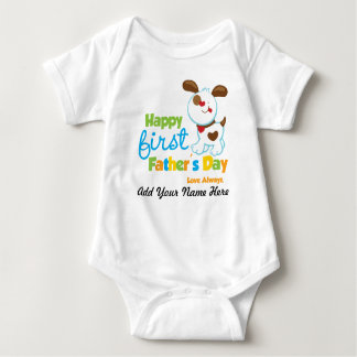 Puppy Dog Happy First Father's Day Tshirts