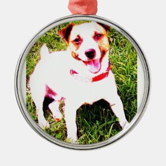 puppy dog, Jack Daniels Metal Ornament