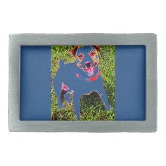 puppy dog, Jack Daniels Rectangular Belt Buckle