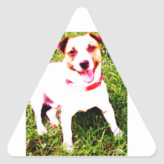 puppy dog, Jack Daniels Triangle Sticker