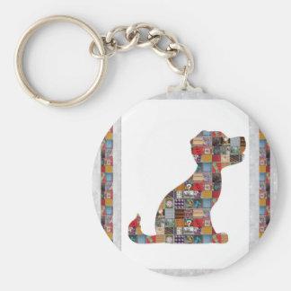 PUPPY Dog KIDS love CRYSTAL Stone Jewel NVN476 fun Basic Round Button Keychain