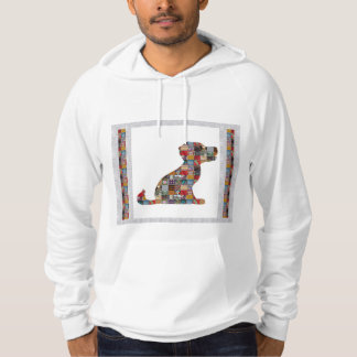 PUPPY Dog KIDS love CRYSTAL Stone Jewel NVN476 fun Hooded Sweatshirt