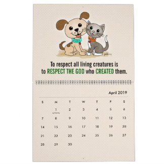 Puppy Dog Kitty Cat Pet Animal Welfare Rights Calendar