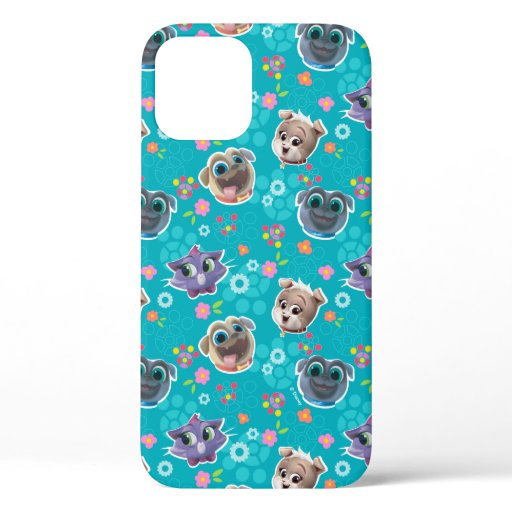 Puppy Dog Pals | Floral Pattern iPhone 12 Case