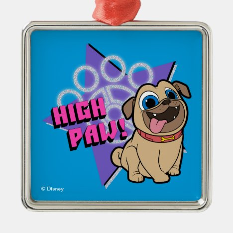 Puppy Dog Pals   Rolly - High Paw Metal Ornament