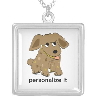 Puppy Dog Personalized Necklace
