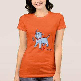 Puppy Dog Pink Flower -  T-shirt