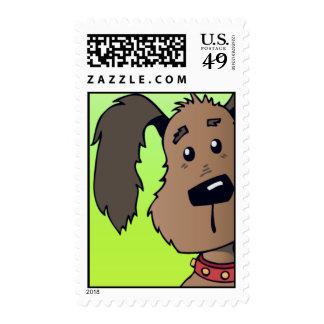 Puppy Dog Postage Stamp