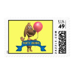 Puppy Dog Postage Stamps