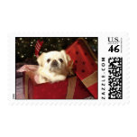 Puppy Dog Present Postage Stamp