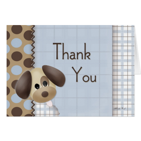 Puppy Dog Thank You Card
