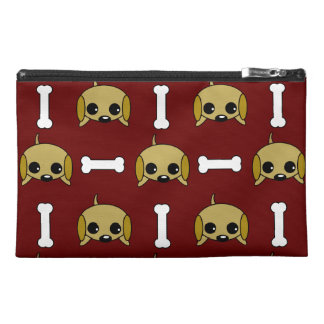 Puppy dog With Bone Patterned Travel Accessories Bag